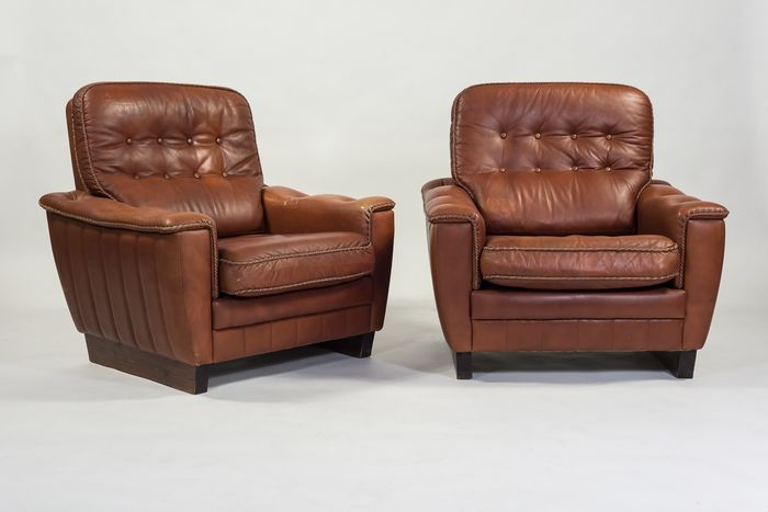 Set of two Danish design armchairs from 1960's