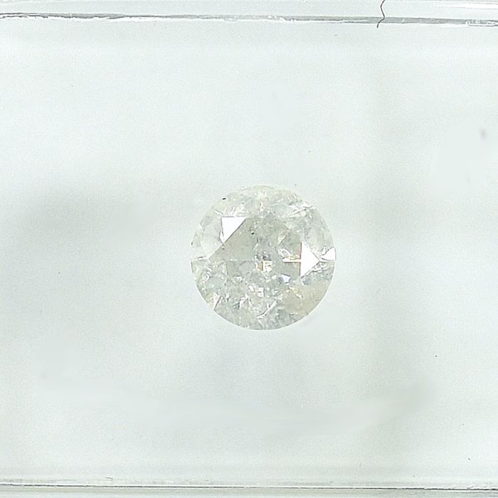 Diamante - 0.46 ct - Brilhante - G - I1 - NO RESERVE PRICE