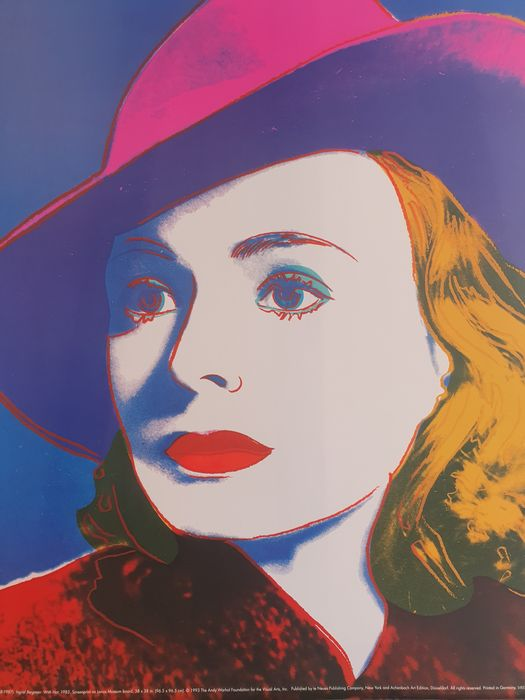 Andy Warhol (after)  - Ingrid Bergman: With hat, 1983
