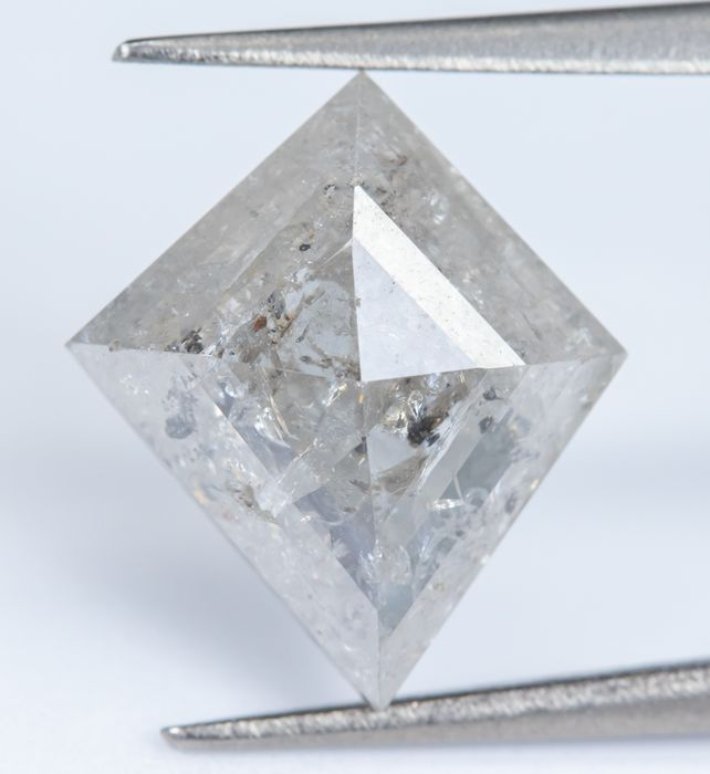 Diamant - 1.76 ct - Gris - I2 *NO RESERVE*