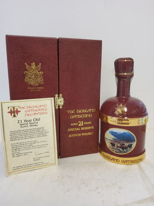 Highland Gathering 21 years old Special Reserve - Wade Decanter - Lombard - 70 cl