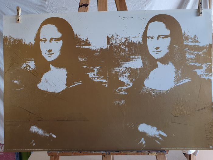 Andy Warhol (after)  - Two Golden Mona Lisas