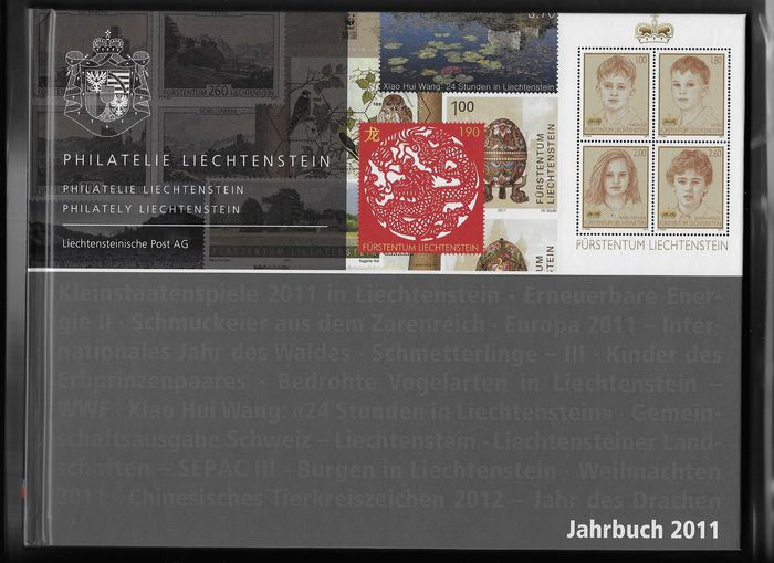Liechtenstein 2011 - Official annual Filatelia album - Michel 1580/1617
