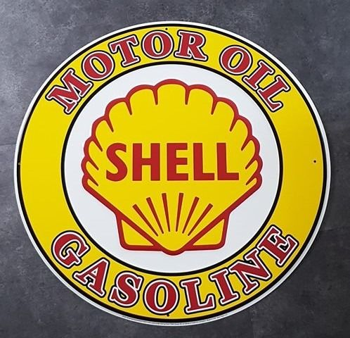 Decorative object - SHELL USA gasoline oil benzine olie garage reclame decoratie adverstising sign - Shell, Polly Gas - 1990-2000