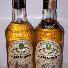 Glen Grant 1969 5 years old - Original bottling - b. 1970er Jahre - 75 cl - 2 flaschen