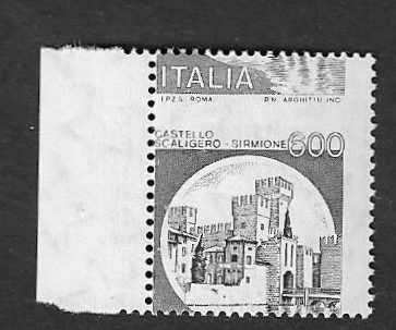 Italia 1980 - Scaligero Castle shifted perforation and only print of colour black - Sassone N.1141Ah