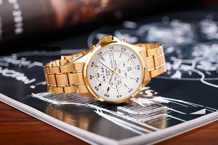 Seiko - Gold Plated Edition - 100M - Chronograph- made in Japan Caliber 4T57 - Herren - 2011-heute