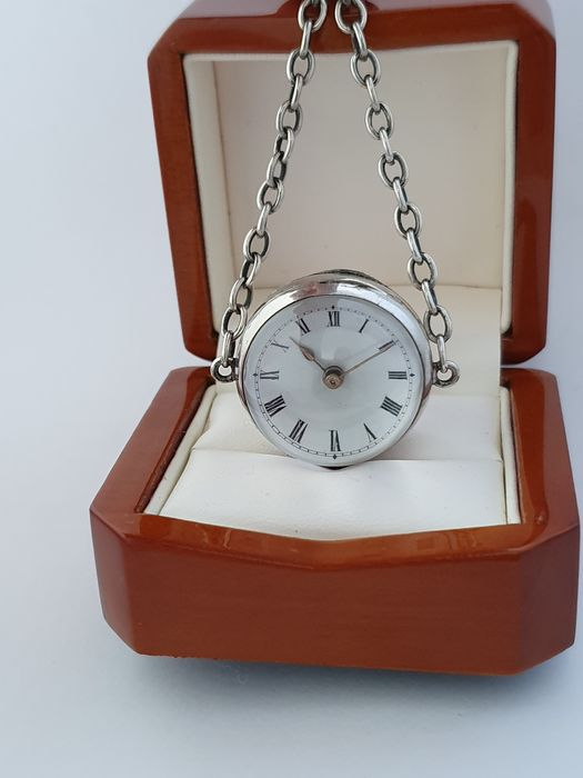 Old Antique Silver Ball Magnificent Glass Pocket Watch - NO RESERVE PRICE - Heren - 1850-1900