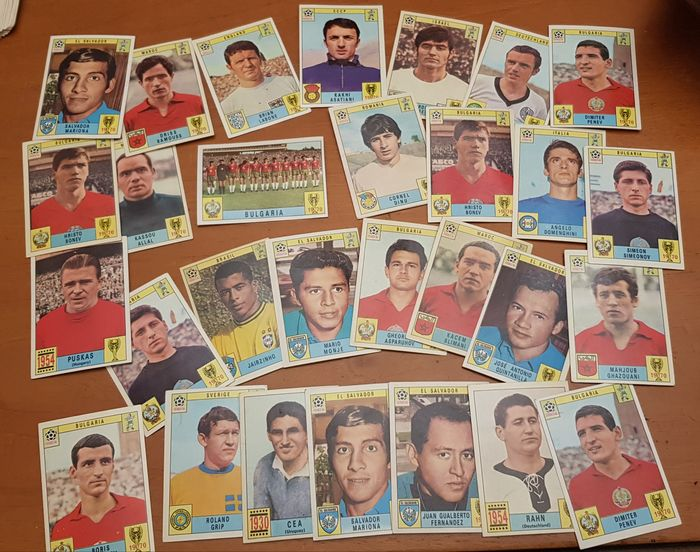 Panini - World Cup Mexico 70 - 29 originale lose Karten