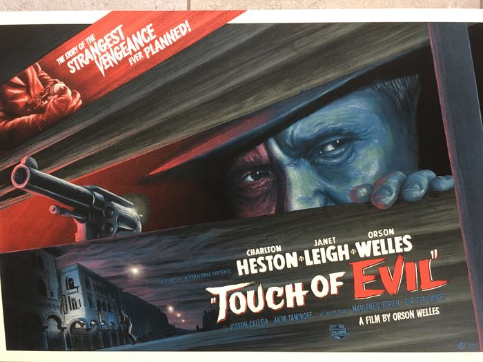 Touch of Evil (1958) - Orson Welles - Litografi, Screen print by Mike Saputo - Nr 82 / 175.