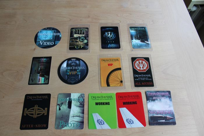 Dream Theater - Large Backstage Pass Collection - Official merchandise memorabilia item - 2000/2017