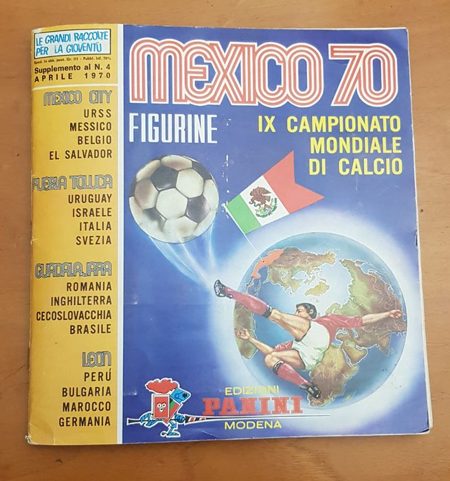 Panini - WC Mexico 70 - Onvolledig album + 5 extra kaarten uit verzameling Super Scudetti