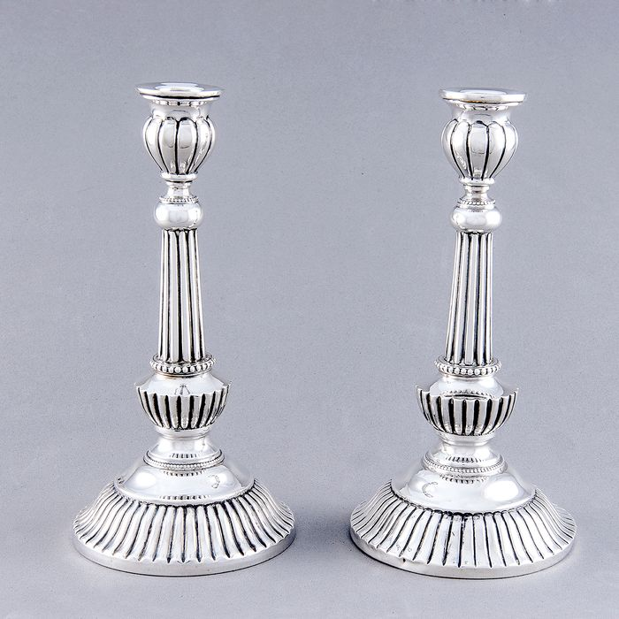 Candlestick (2) - .915 silver - 1.061 gr. - Spain - First half 20th century