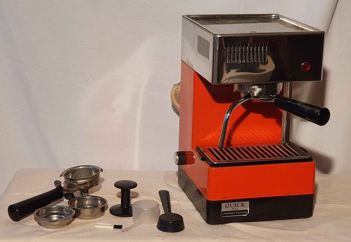 Quick - Mill  Personal caffè e cappuccino - Vintage jaren 80 koffiemachine (1) - Staal - Glas - Plastic