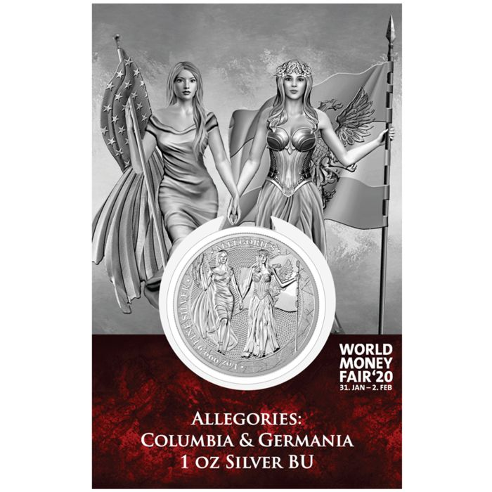 Germany - 5 Mark 2019 Germania Mint - The Allegories Columbia & Germania World Money Fair Edition - 1 Oz - Silver