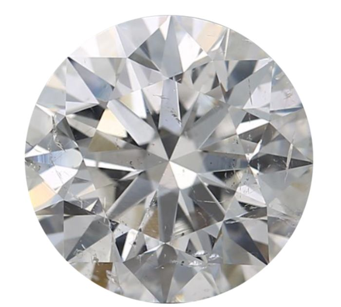 1 pcs Diamond - 1.01 ct - Round - I - SI2