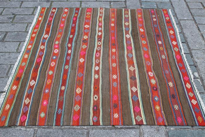Turkish Nomadic Kilim - 156 cm - 128 cm