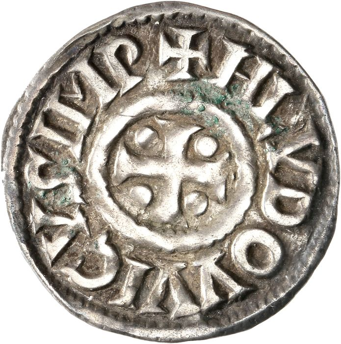 France - Louis I le Pieux (814-840) - Denier - Silver