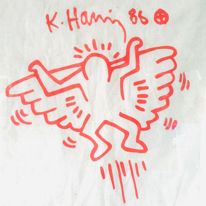 Keith Haring - Wall Angel - Museum House at checkpoint Charlie Berlin - from pop shop private collection