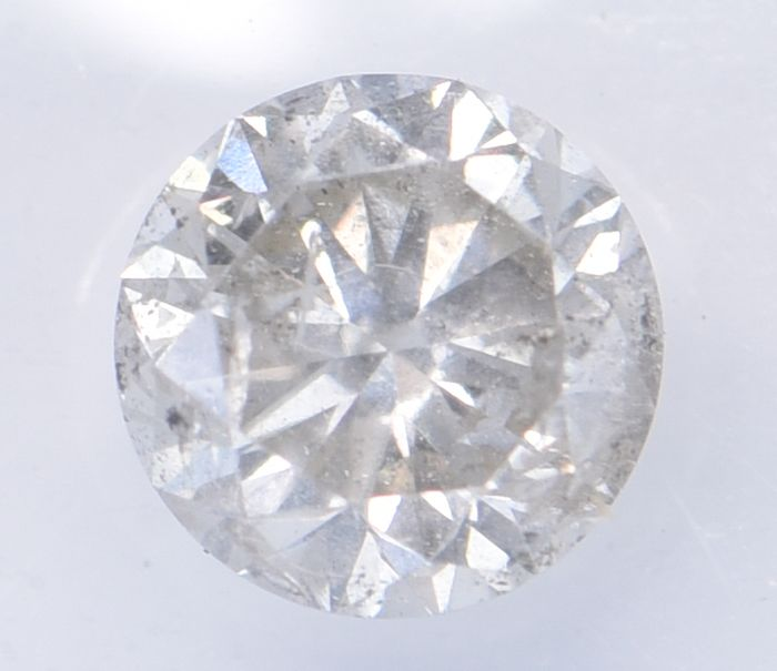 1 pcs Diamant - 1.14 ct - Brillant, Rund - I - I3     ** No Reserve Price **