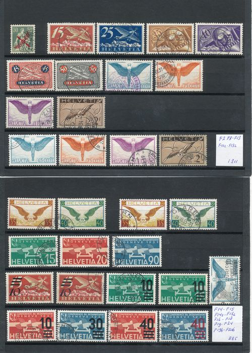 Switzerland 1919/1940 - Collection of airmail stamps