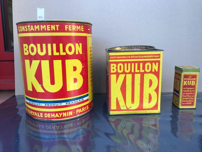 Set of 3 KUB boxes from the 60s (3) - Steel