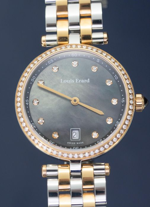 Louis Erard - Diamonds Black Mother of Pearl Cabochon Romance - 11810SB29.BMA27 - Dames - BRAND NEW
