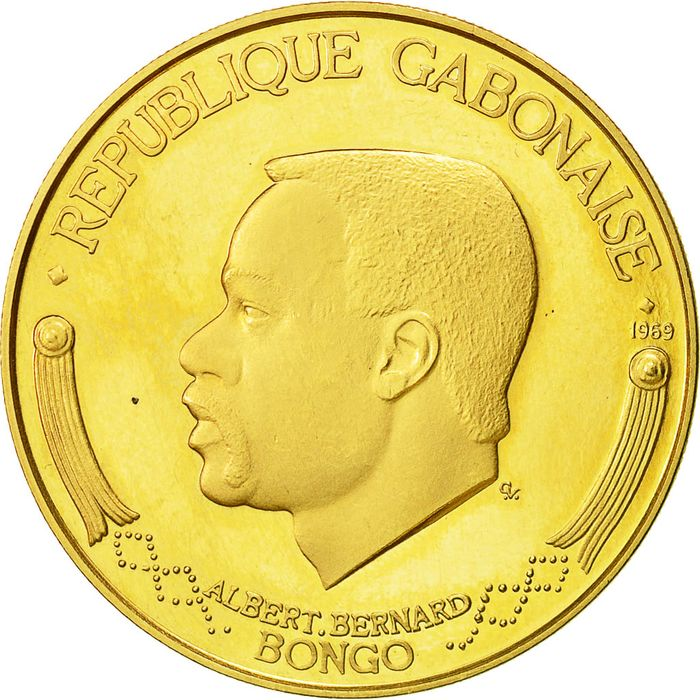 Gabon - 5000 Francs 1969 - Gold