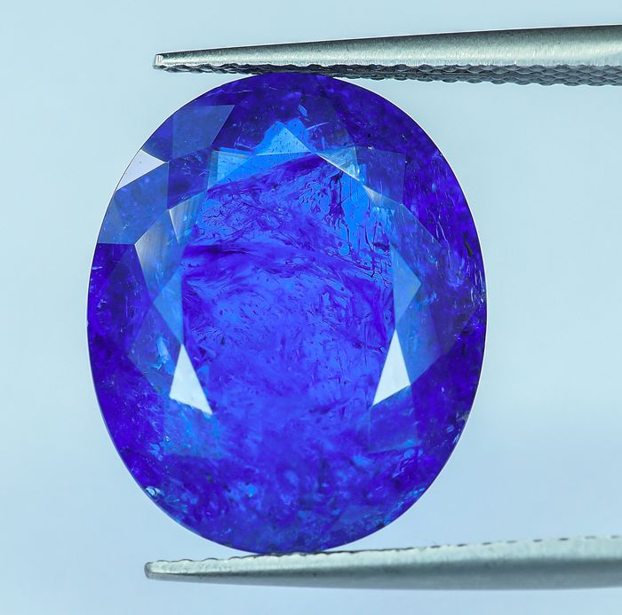 No Reserve - Intense Blue-Violet Tanzanite - 14.09 ct