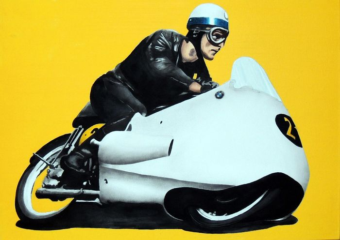 Painting - Walter Zeller - BMW RS 500 Corsa