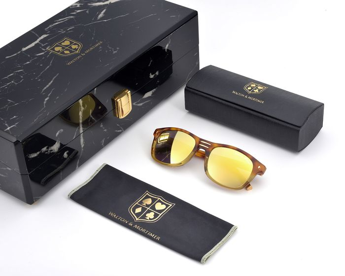 "Walton & Mortimer - ""The Showrunner""   Havana-Gold Sunglasses"
