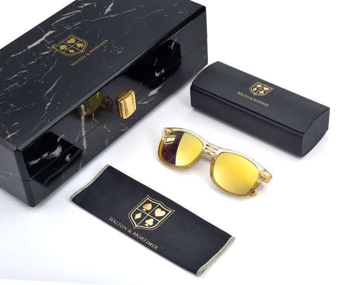 "Walton & Mortimer - ""The Showrunner"" Transparent Gold - Unit 93/99 Sunglasses"