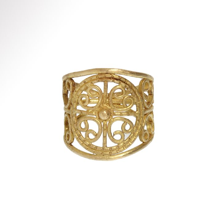 Byzantine Gold Open-Work and Filigree Ring