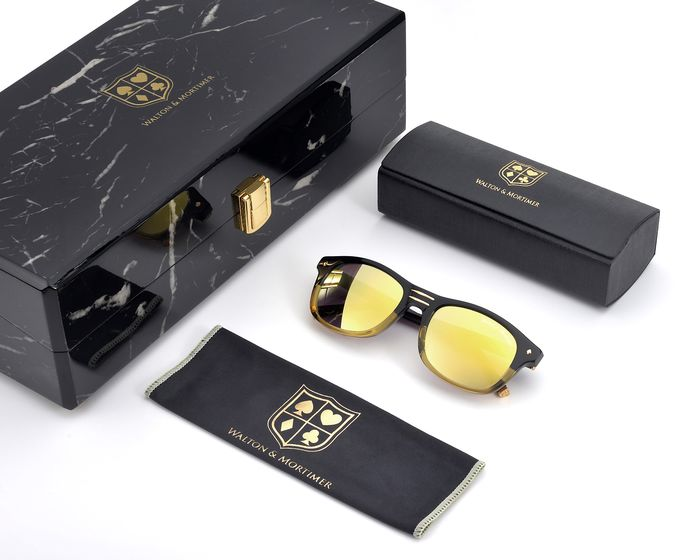 "Walton & Mortimer - ""The Showrunner""   Black-Gold Sunglasses"