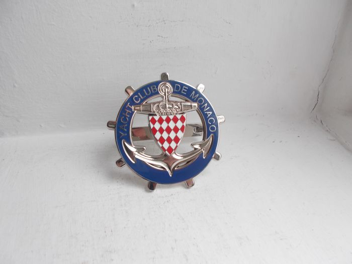 Insigne - Yacht Club De Monaco enamel on chrome car grille badge with fixings stunning - 1970-1980