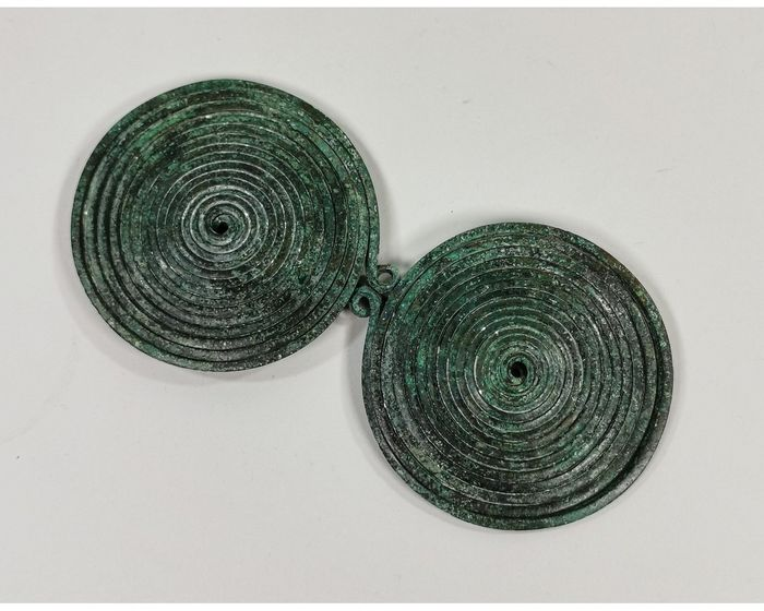 Bronze Age Bronze Large Spectacle Brooch