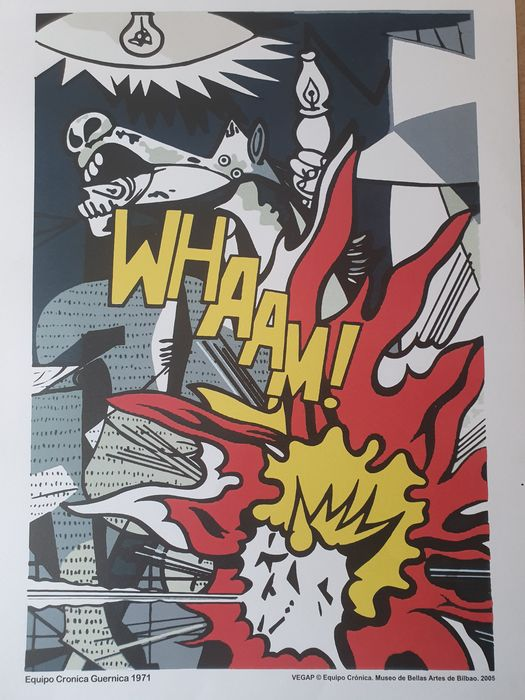 Picasso (after) / Lichtenstein (after) - Whaam in Guernica - 2005