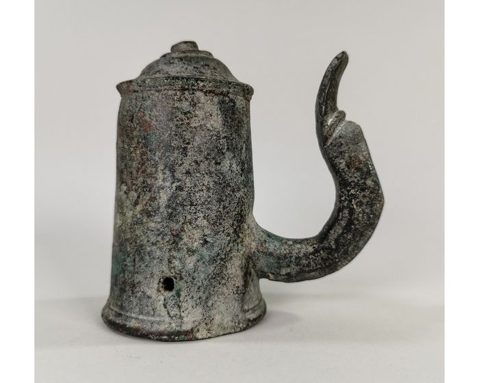 Ancient Roman Bronze Chariot Fitting with Swan Head