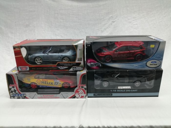 Motormax/Hotwheels/Classic Carlectibles/Biante Classics - 1:18 - Porsche 911 Turbo/Ford Falcon/Ford Thunderbird/Ford Focus