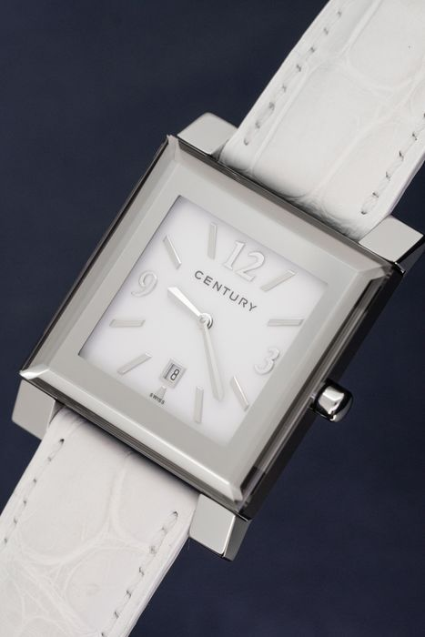 Century Swiss - Sapphire Watch Chill Out X White with Alligator Strap - 9007XL1i1115DCZM - Mujer - BRAND NEW