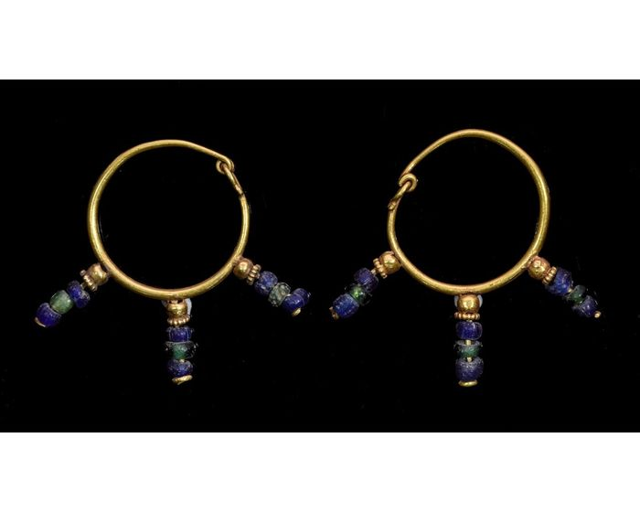 Ancient Romano-Egyptian  Gold Earrings