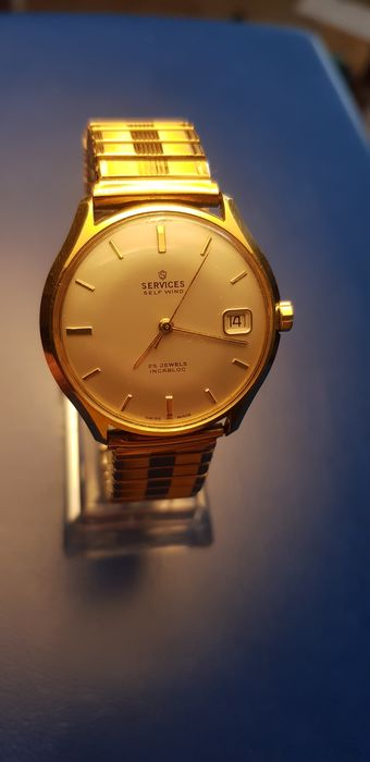 Gold Plated Services Automatic 25 jewels - Self Wind - Heren - 1960-1969