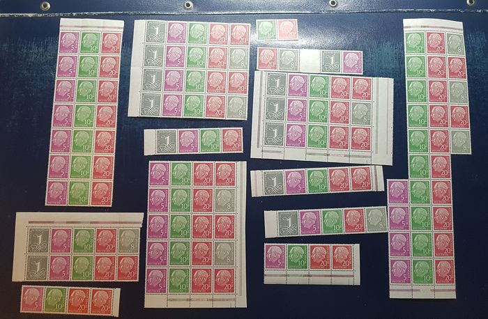 Germania - repubblica federale - Compilation of stamp booklet sheets & se-tenants from stamp booklet sheets 8 X + Y. - Michel MHB 8