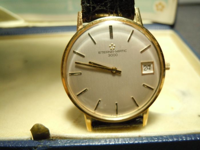 Eterna-Matic - 3000 Date Ultra Slim 18K Solid Gold - 6027205 - Herren - 1960-1969