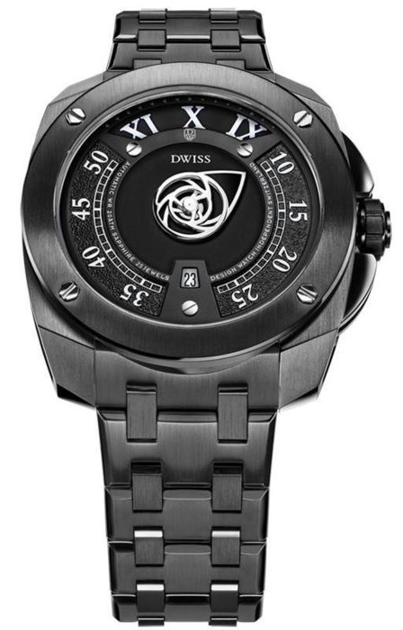 DWISS - Automatic Signature Time Collection IP Black Stainless Steel Top Grade Movement - RC1-BB - Herren - Brand New
