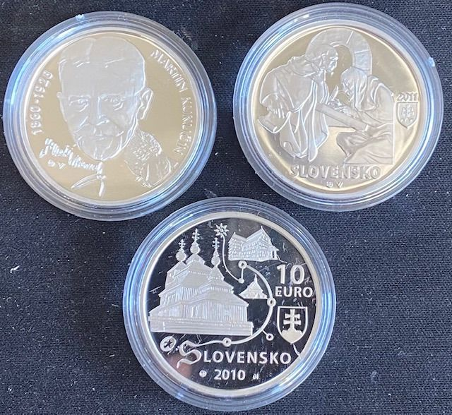 Slovakia - 10 Euro 2010/2011 Commemorative (3 pieces)  - Silver