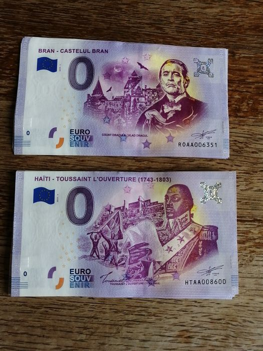 Europe - 0 Euro Souvenir - Romania and Haiti 2019 - First Issues - Paper