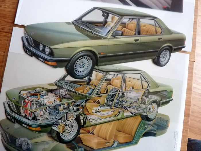 Folletos / Catálogos - 5-serie E28 dealer info + folders - 1982 - BMW