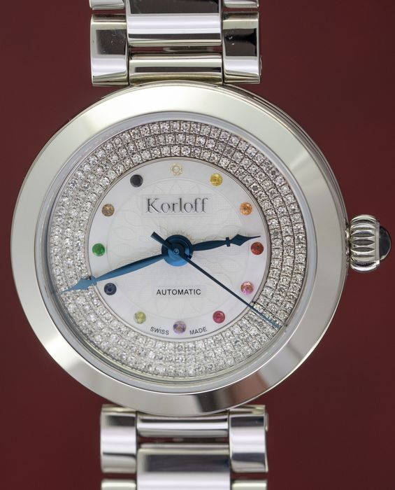 Korloff - Automatic Diamonds for 0.78 Carat Royal Blue Cabochon Sapphire Special Collection Swiss Made - CDAF3BR - Damen - BRAND NEW