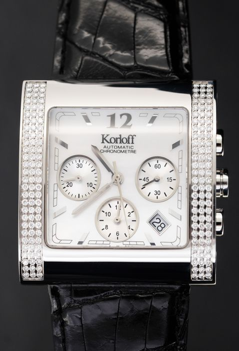 Korloff - Diamonds for 1.35 Carat Certified Chronometer Limited Edition White Mother of Pearl Swiss Made - KCA4 - Unisex - BRAND NEW